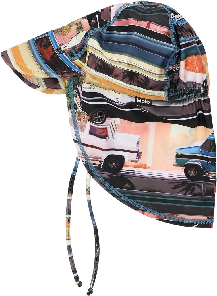 Nando - Mobile Molo - UV baby sun hat with cars