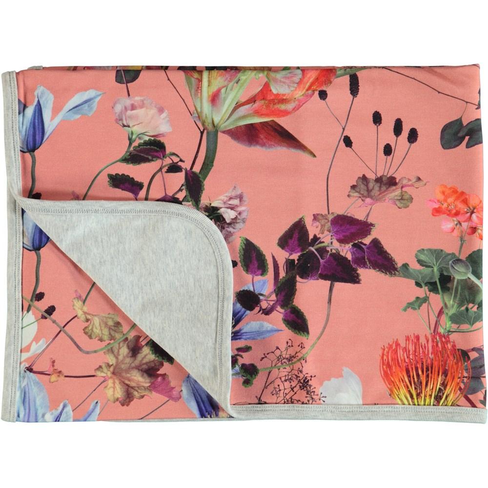 Neala - Flowers Of The World - Flower cotton blanket.