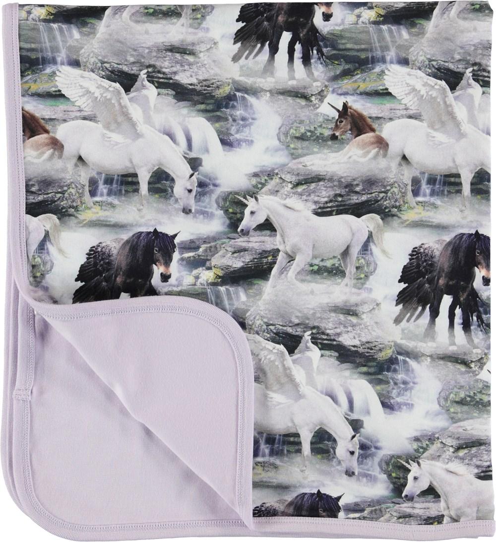 Neala - Mythical Creatures - Blanket with unicorns.