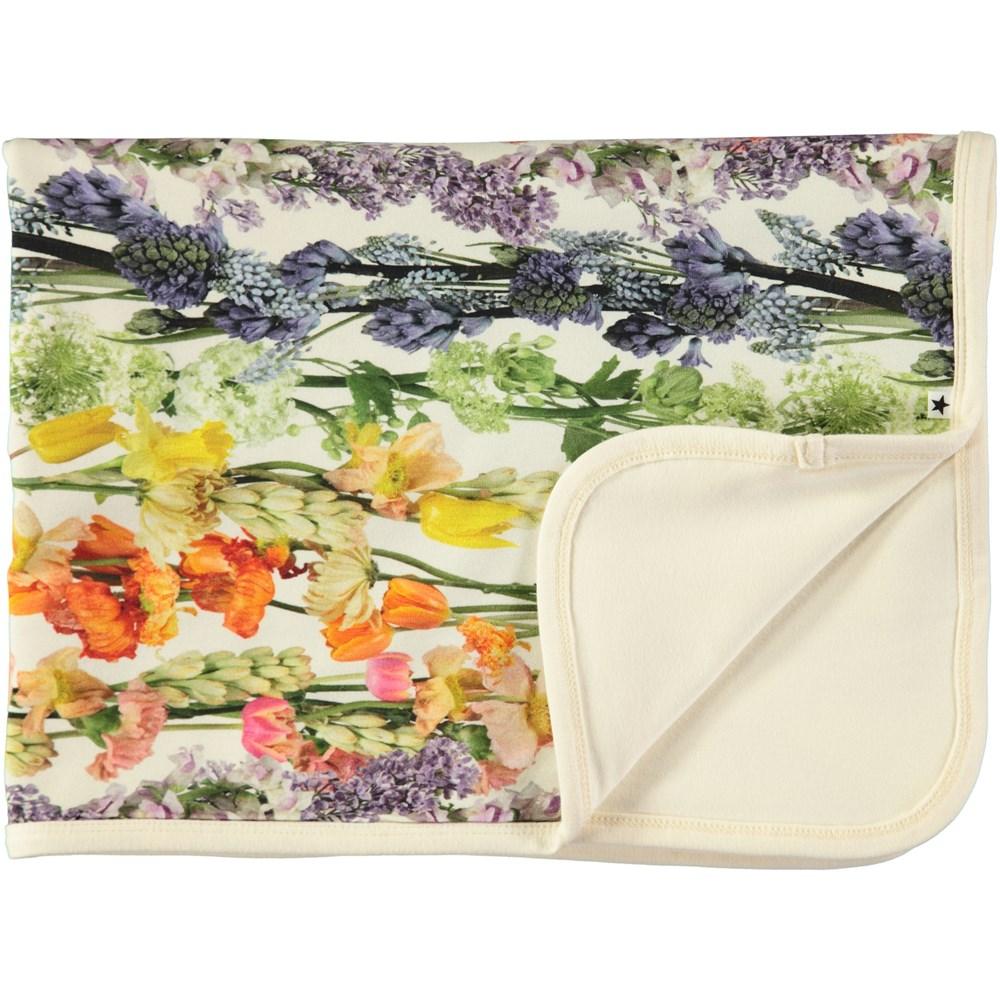 Neala - Rainbow Bloom - Soft cotton blanket with digital flower print