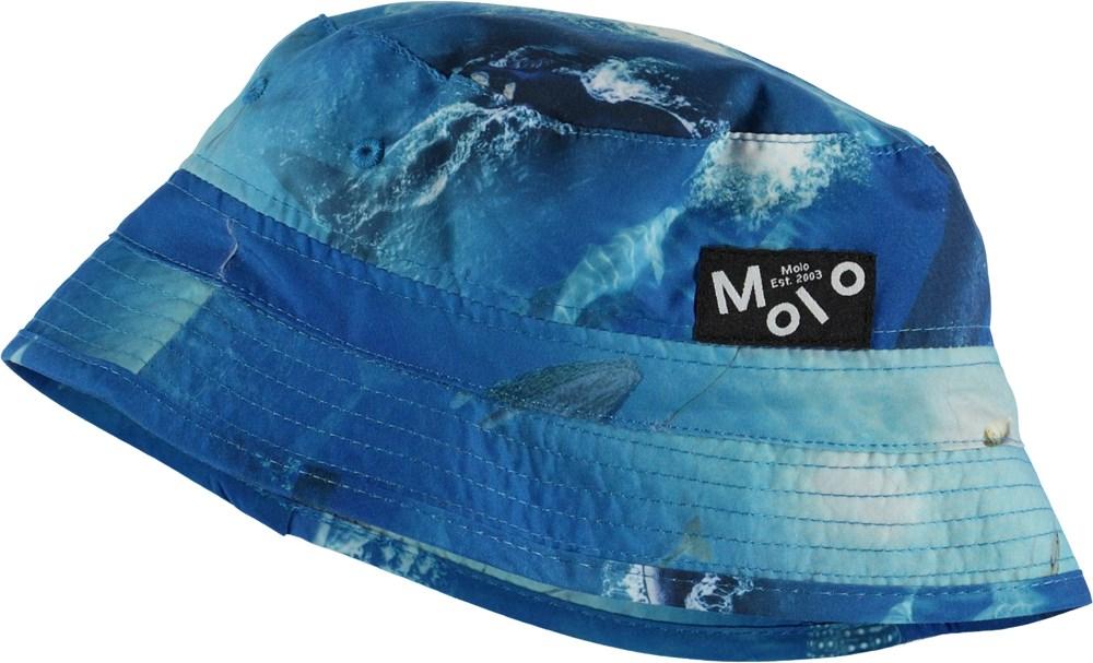 Niks - Above Ocean - Blue bucket hat with ocean print