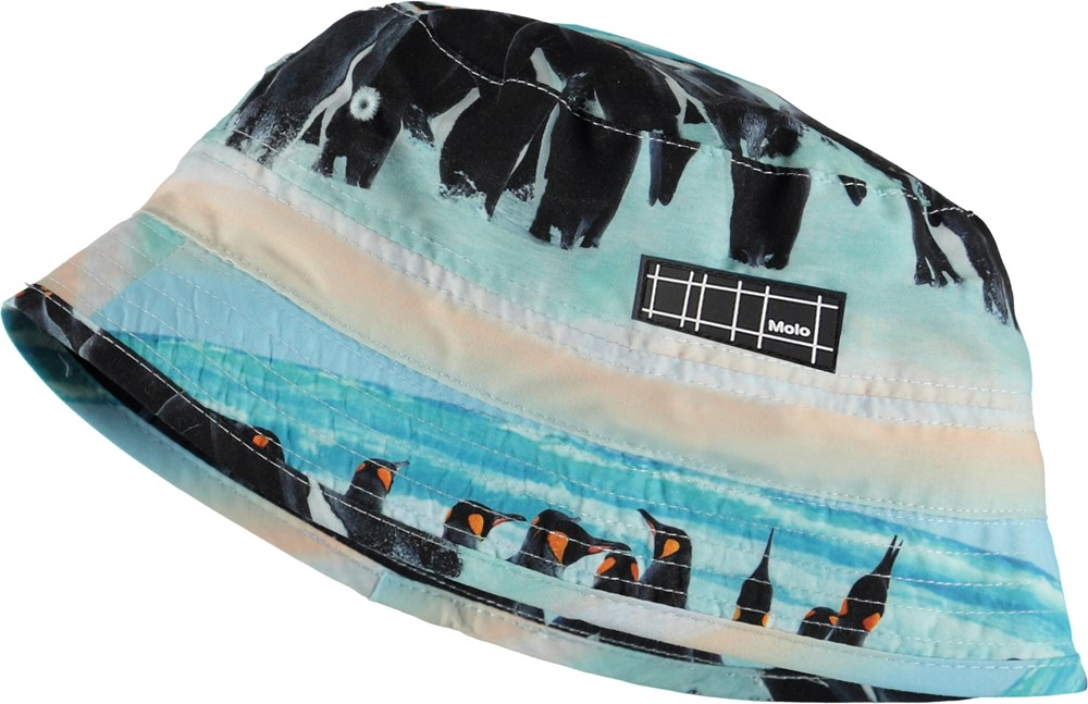 Niks - Penguin Stripe - Bucket hat with penguin print
