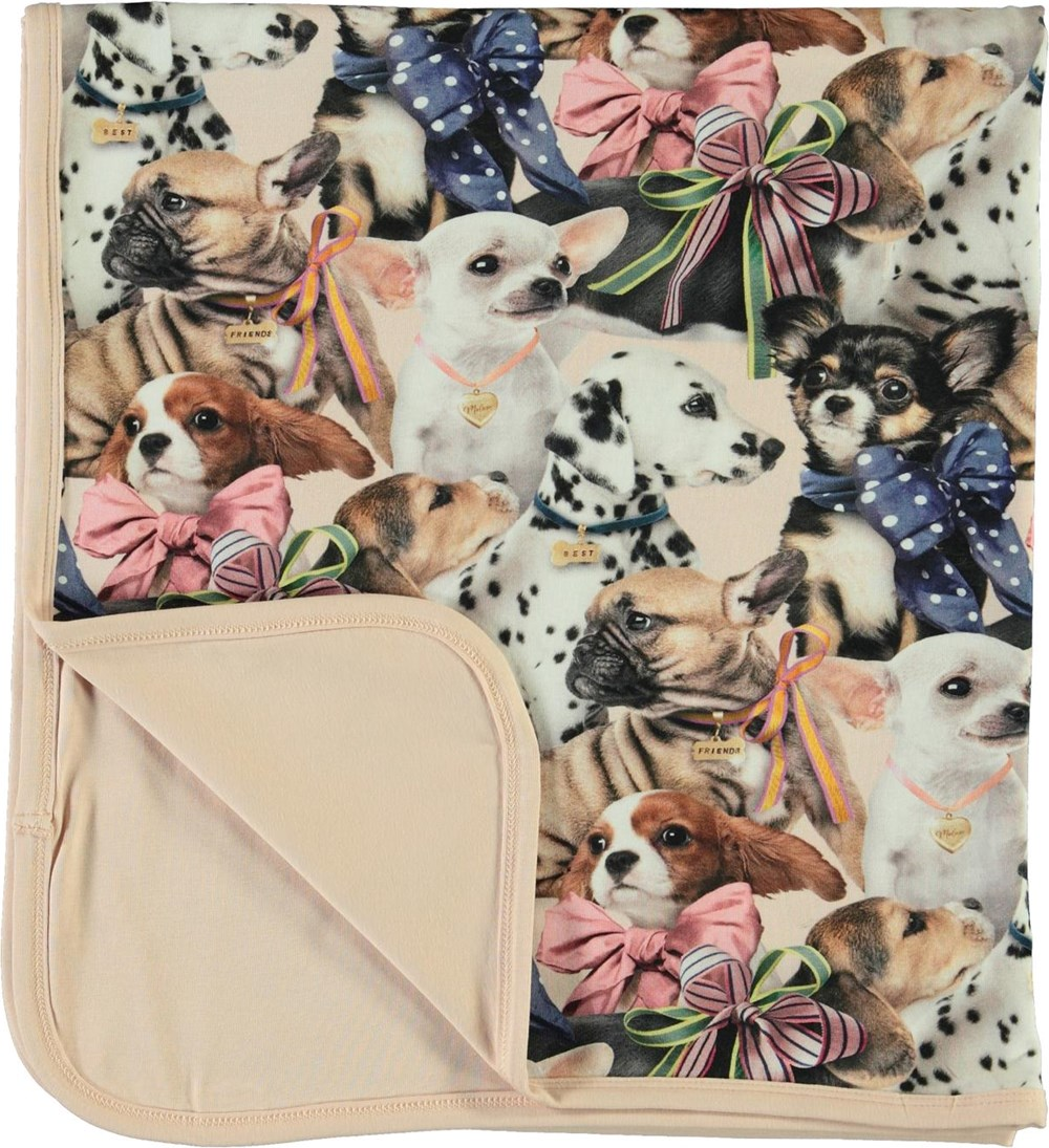 Niles -  Puppy Love - Soft blanket with dog print