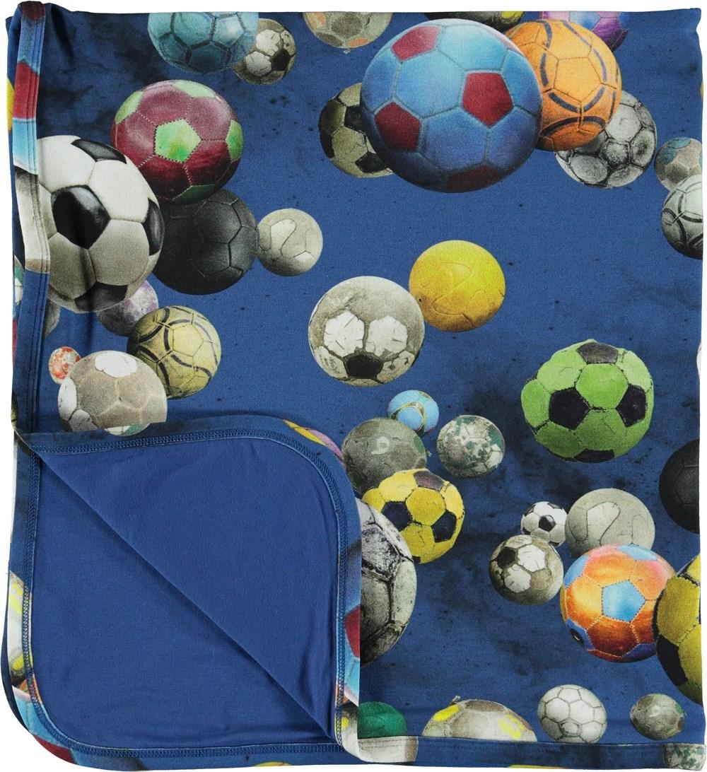 Niles - Cosmic Footballs - Blanket with footballs.