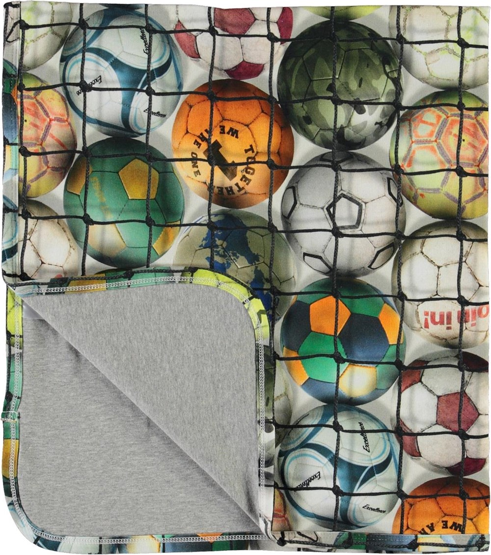 Niles - Footballs - Soft blanket with football print