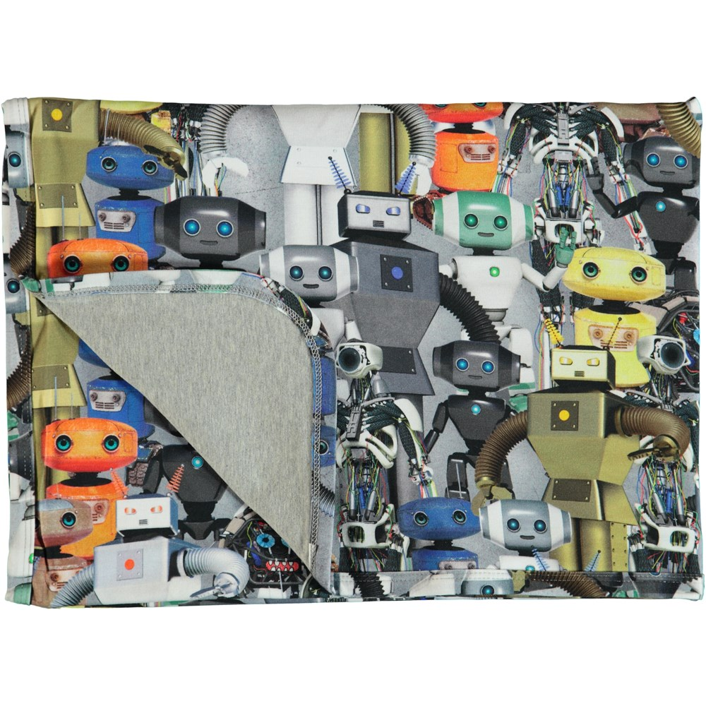 Niles - Robots - Cotton blanket with robot print.