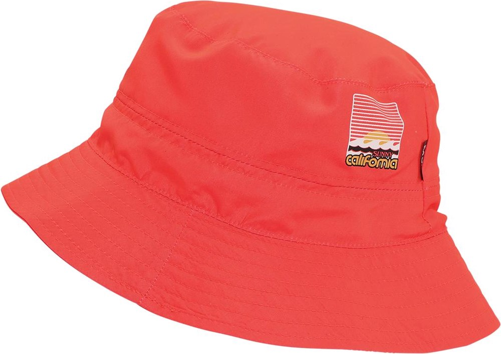 Savon - Neon Coral - Neon red bucket hat