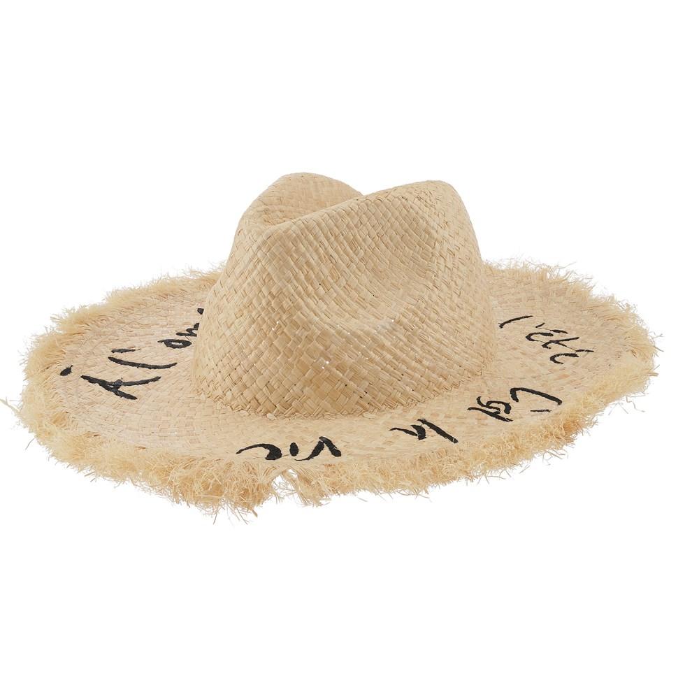 Sunshine Straw - Straw - Straw hat with large brim.