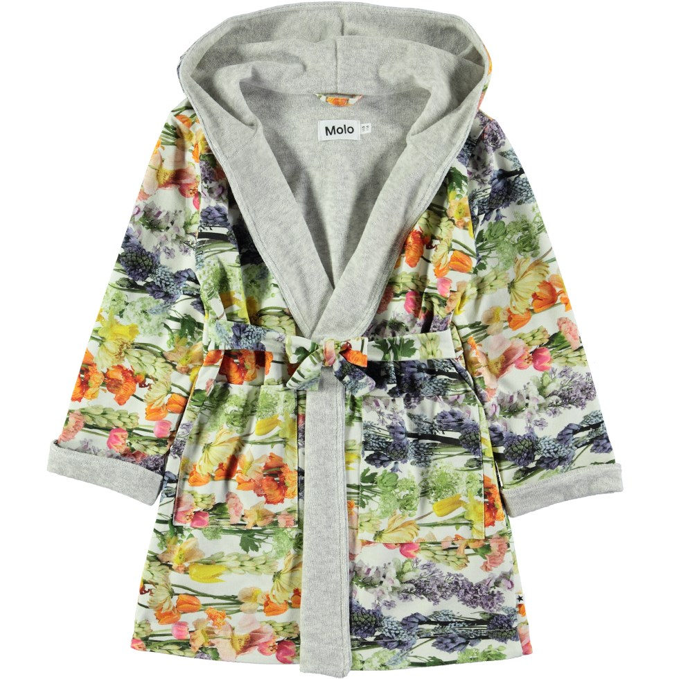 Way - Rainbow Bloom - Bathrobe with digital flower print
