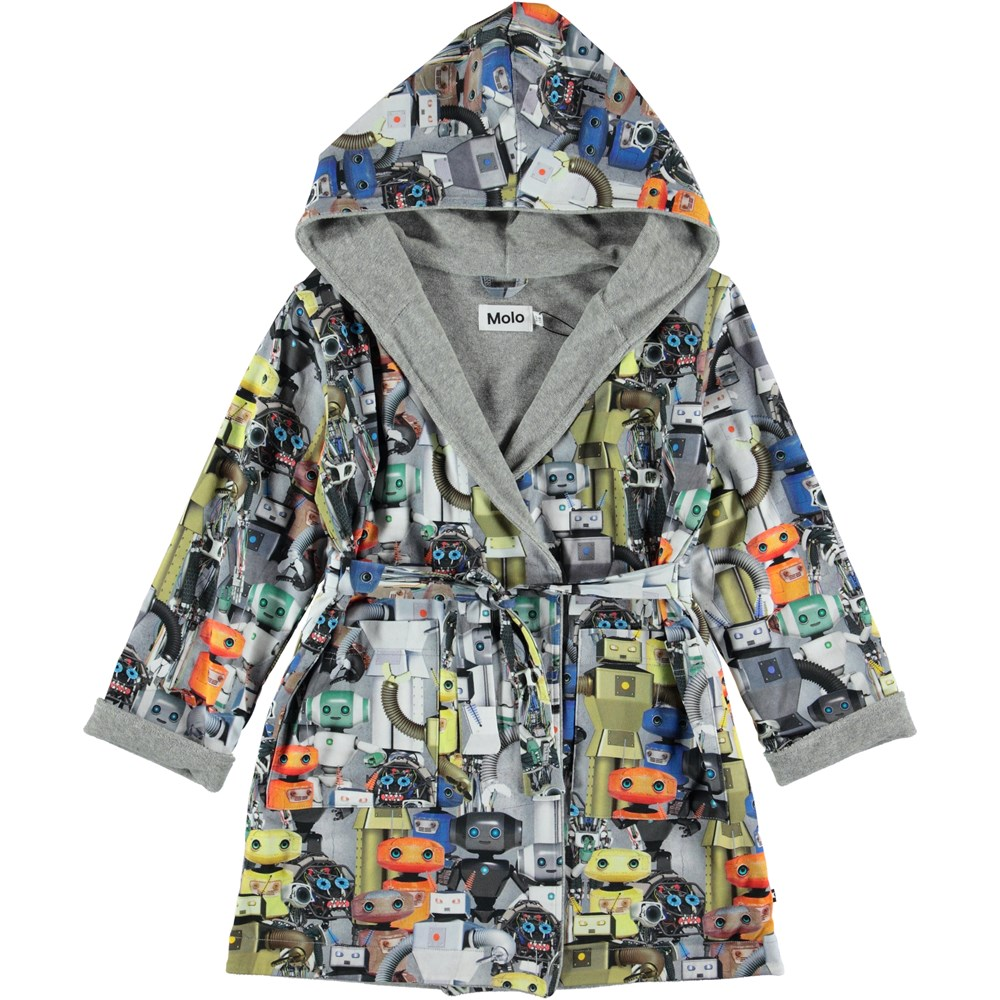 Way - Robots - Bathrobe with robot print.