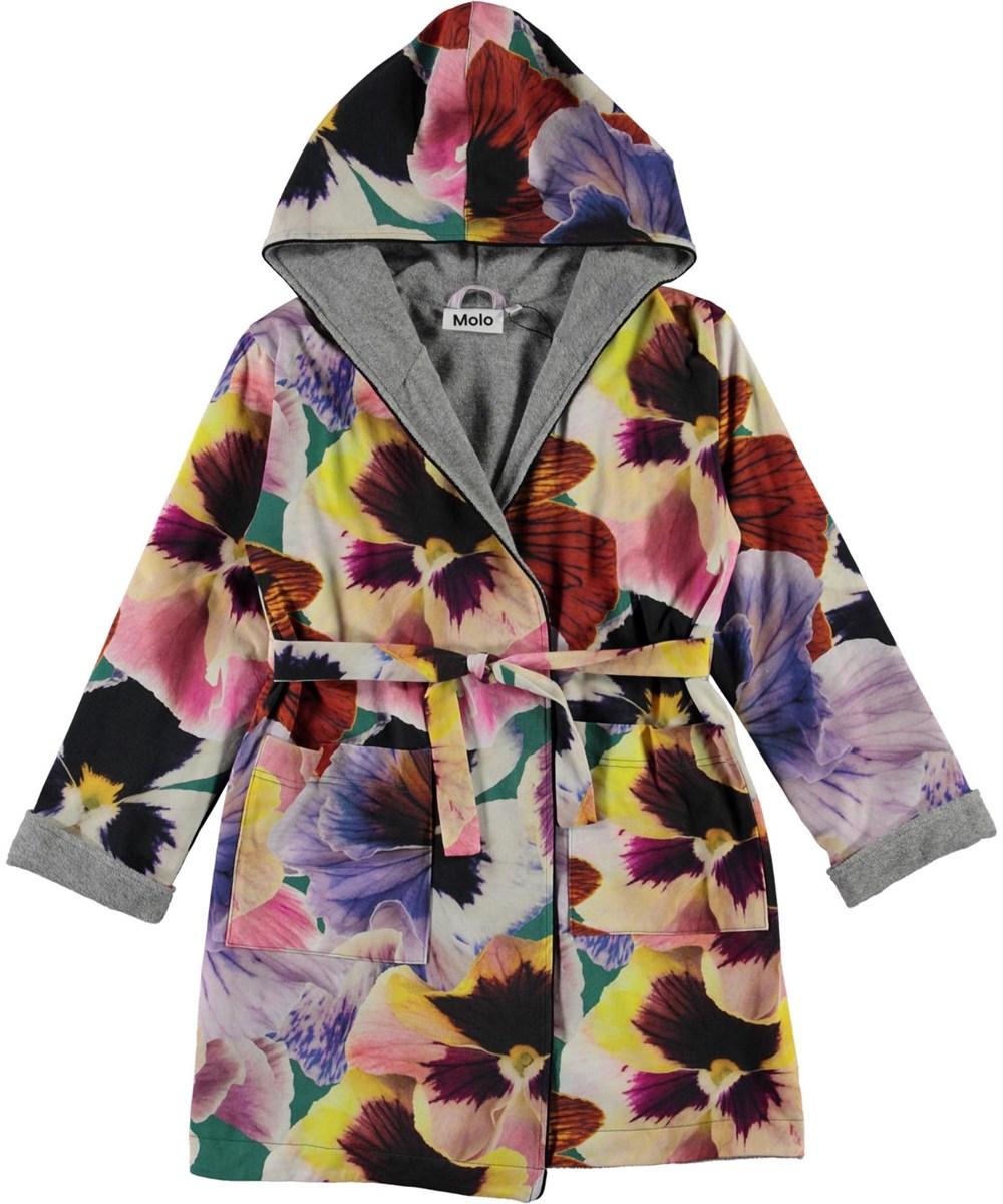 Way - Velvet Floral - Organic bathrobe with floral print