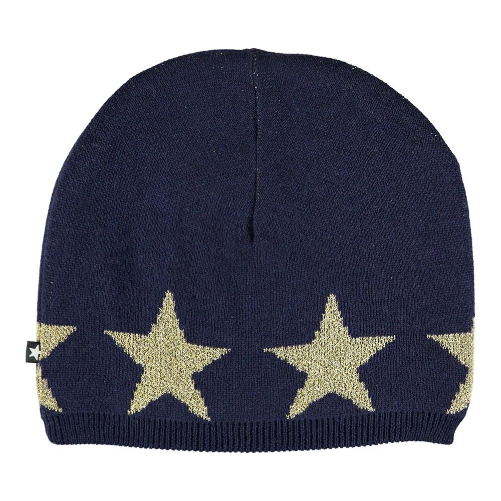 Colder - Evening Blue - Dark blue hat with stars