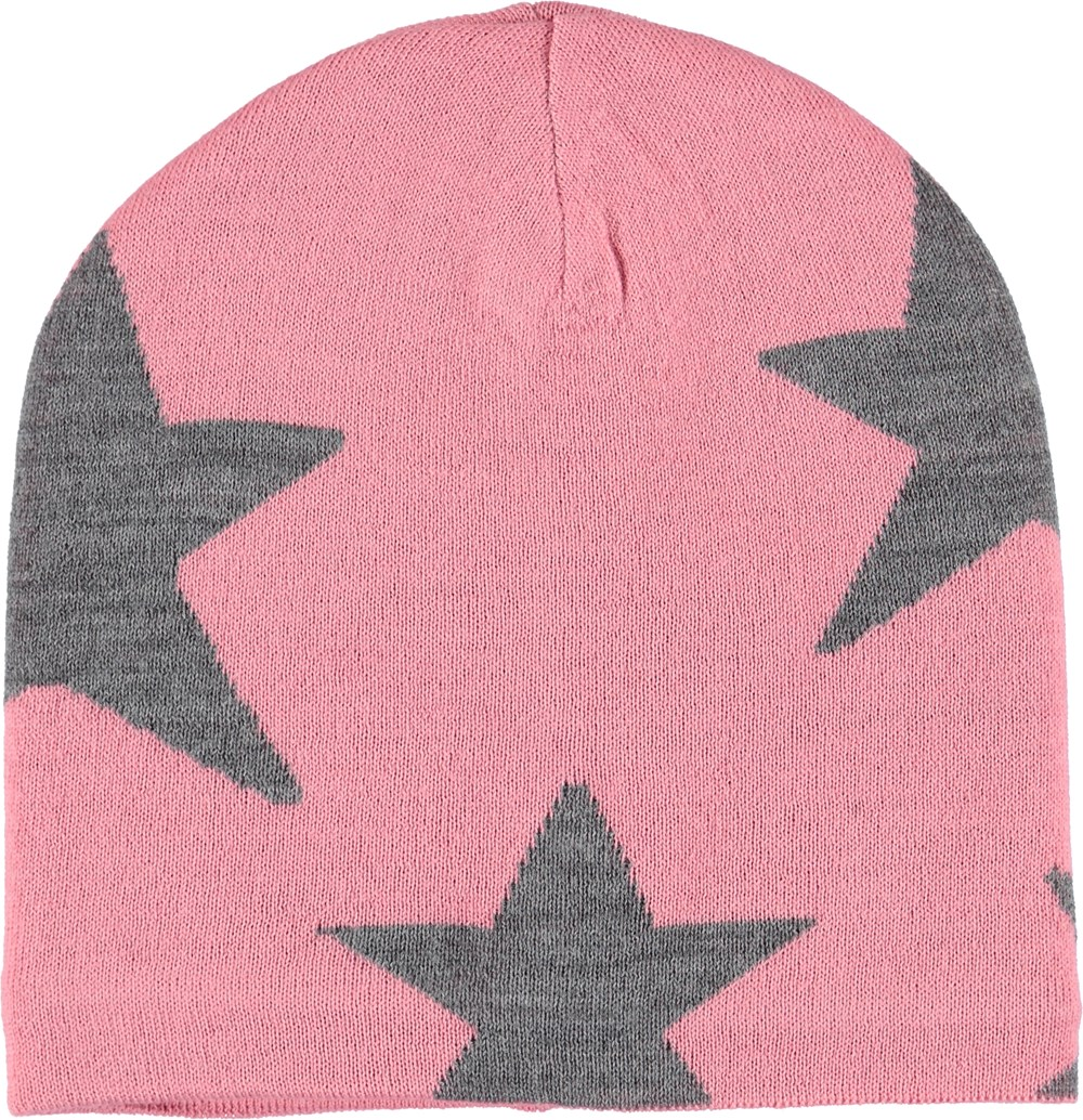 Colder - Bubble Pink - Pink hat with stars.