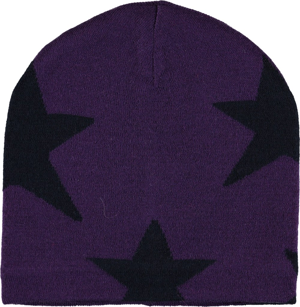 Colder - Dark Purple - Purple hat with stars.