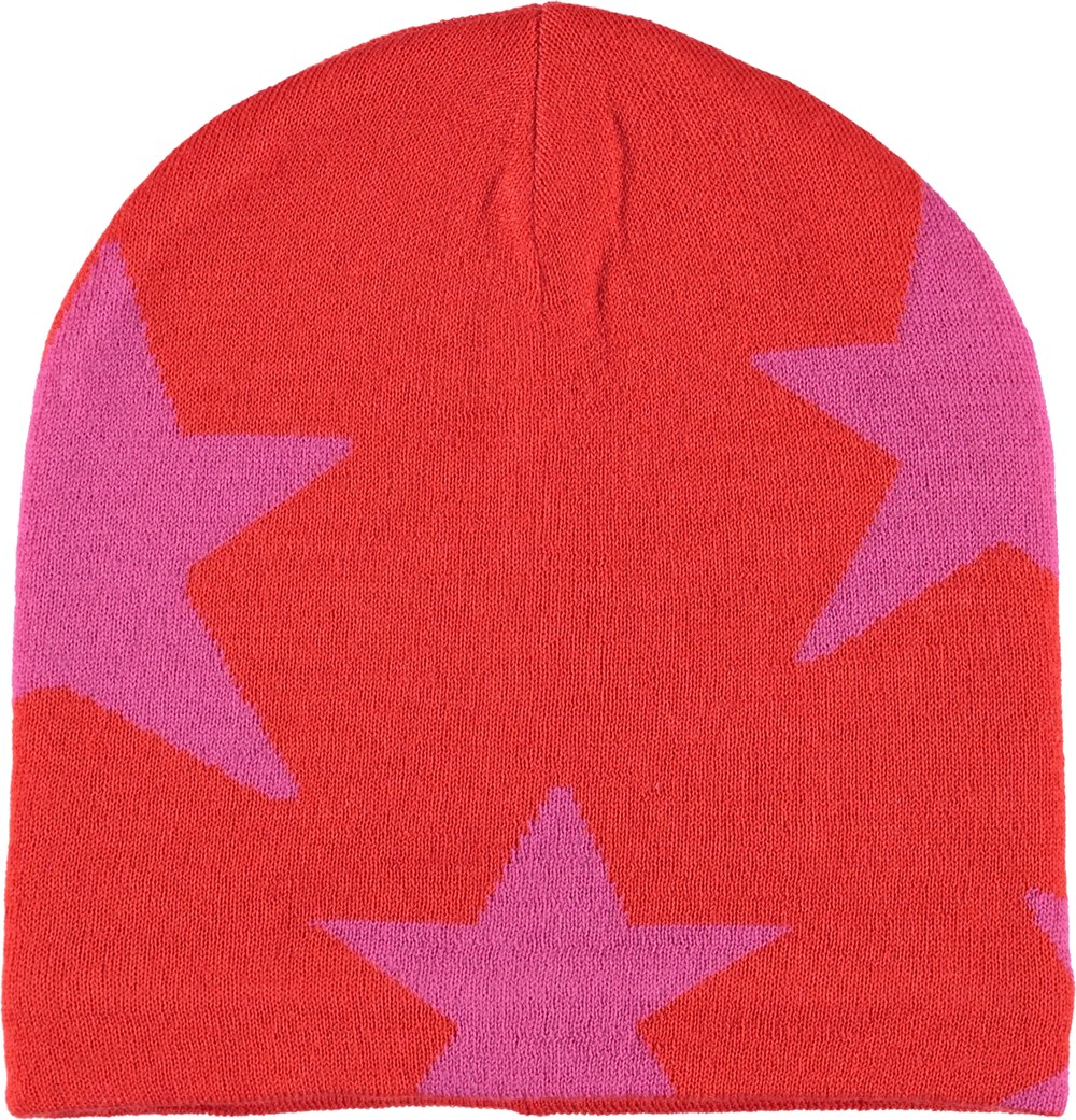 Colder - Fiery Red - Red hat with stars.