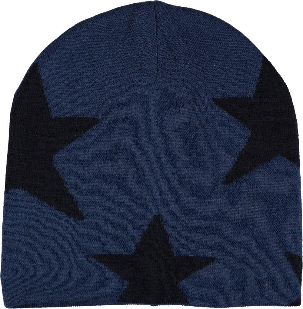 Colder - Ocean Blue - Blue hat with stars.