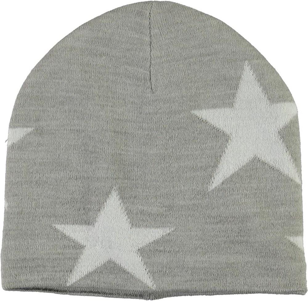 Colder - Warm Grey Melange - Grey hat with stars