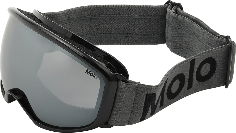 Frameless - Smokey Grey - Black ski goggles