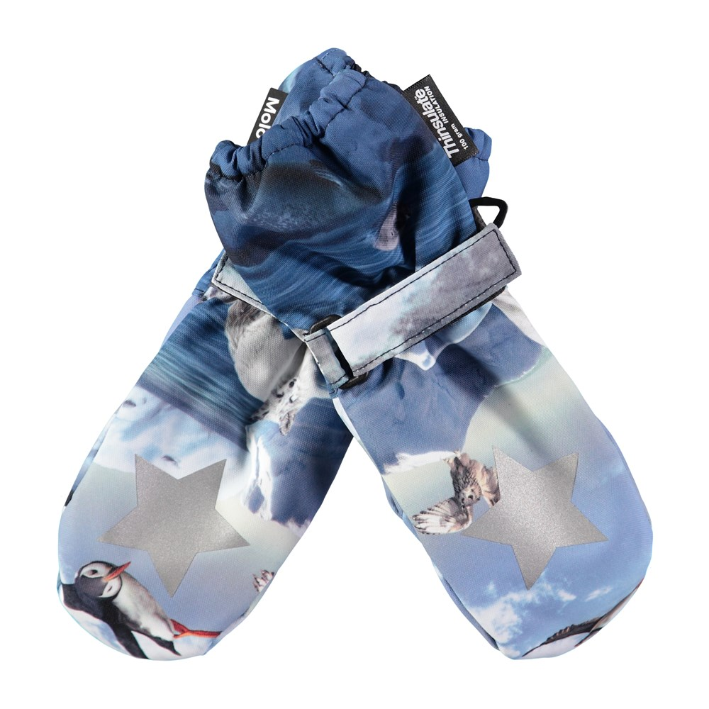 Igor - Arctic Landscape - Waterproof, breathable mittens with digital arctic landscape print