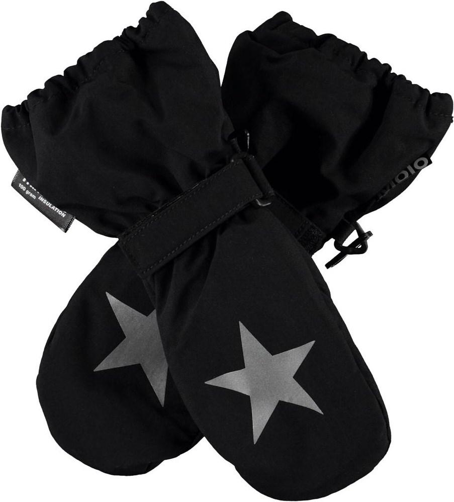Igor - Black - Recycled black winter mittens