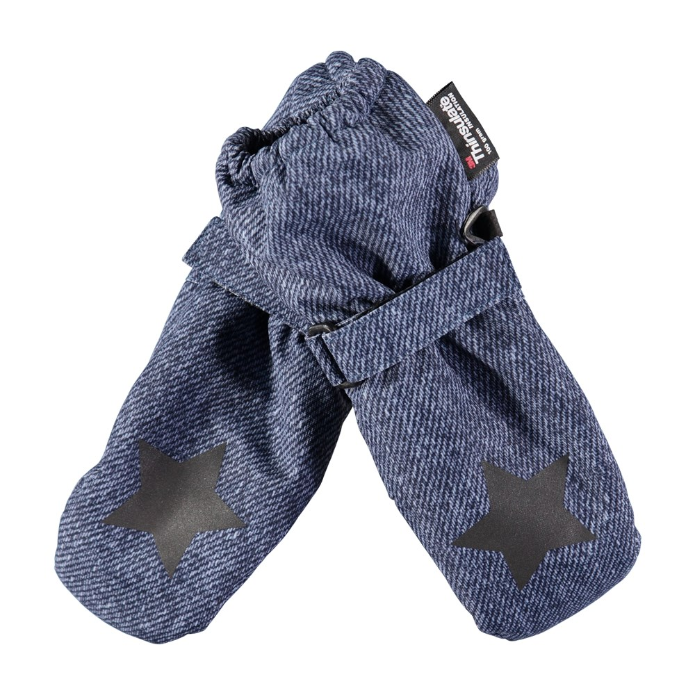 Igor - Denim - Waterproof, breathable mittens with denim print