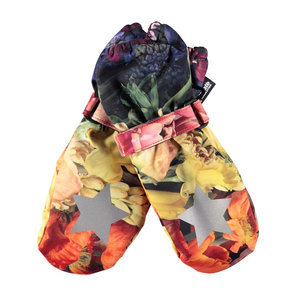 Igor - Flower Rainbow - Waterproof, breathable mittens with digital flower print