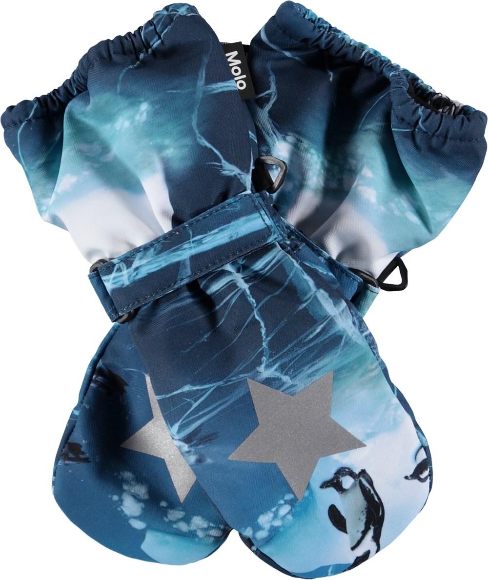 Igor - Frozen Ocean - Blue mittens.
