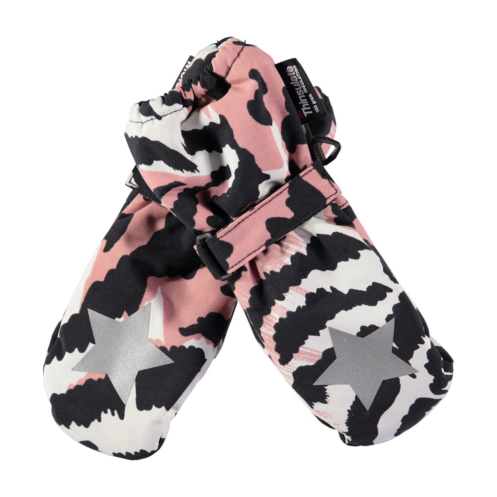 Igor - Graphic Feathers - Waterproof, breathable mittens with graphic feather