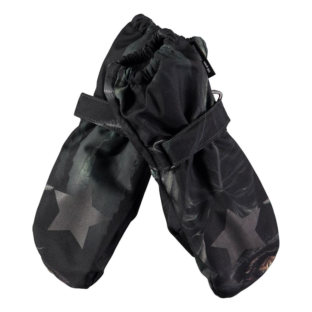 Igor - Jungle Eyes - Waterproof, breathable mittens with digital jungle eyes print