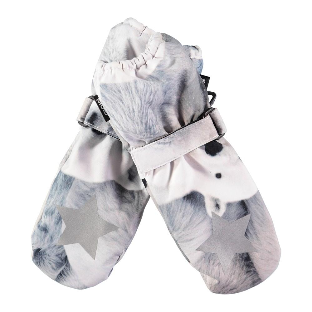 Igor - Polar Bear - Waterproof, breathable mittens with digital polar bear print