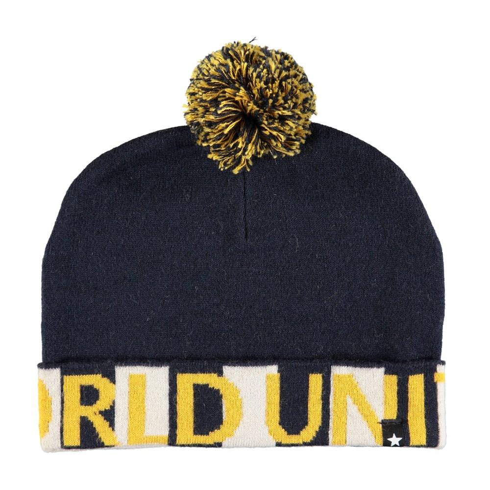 Kaiden - World United Blue - Dark blue hat with pom pom