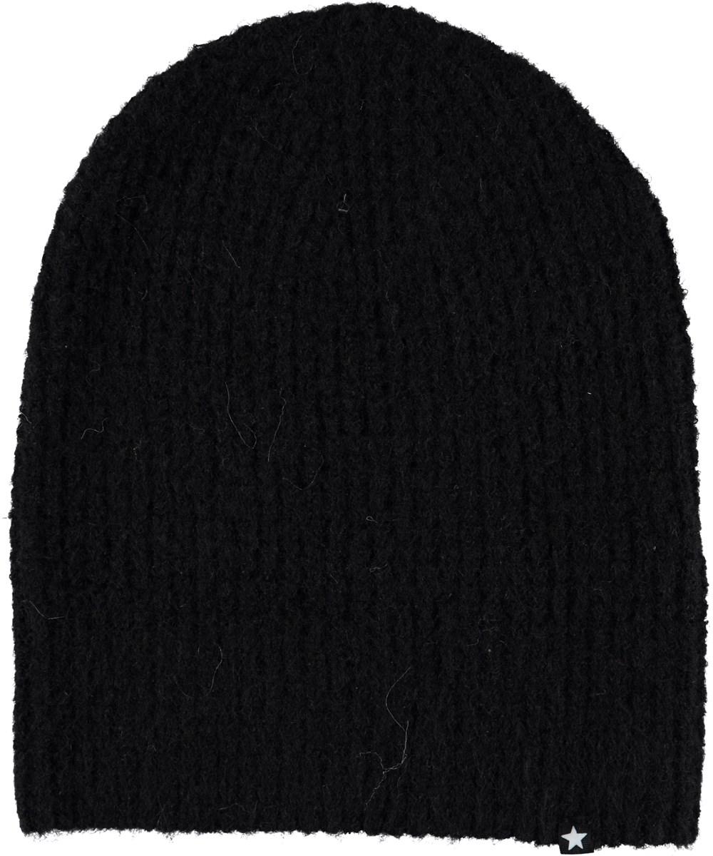 Kara - Black - Black hat with mohair.
