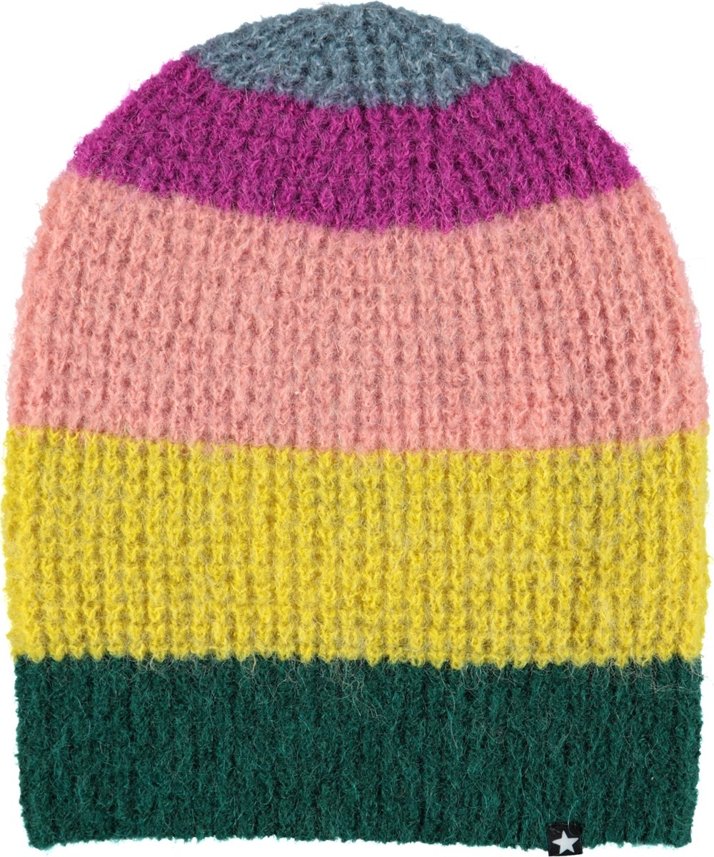Kara - Multi Stripe - Striped hat with mohair.
