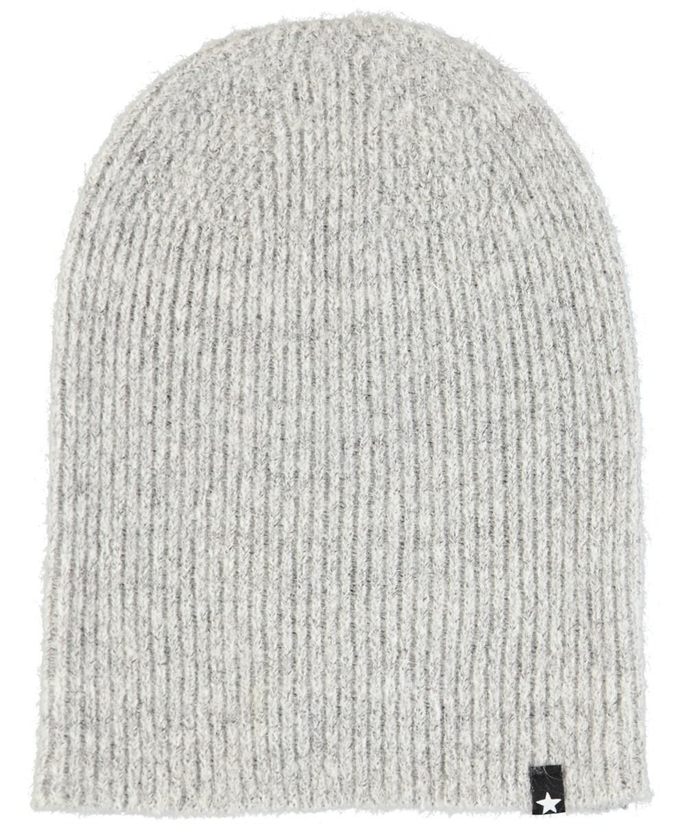 Kara - Smokey Grey - Grey, fuzzy hat in wool blend