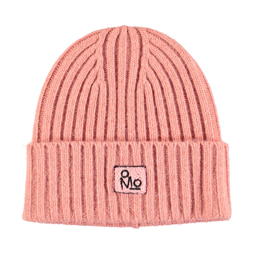 Karli - Ash Rose - Dark rose, cable knit hat in a wool blend