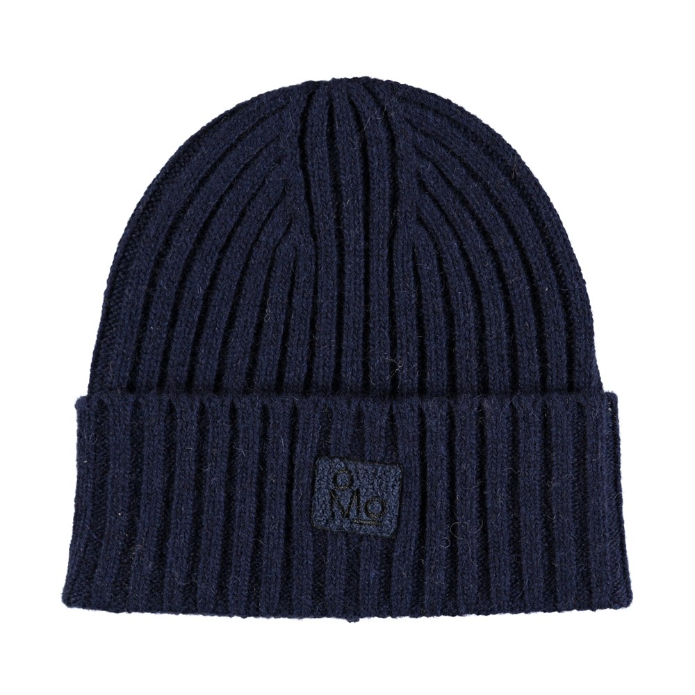 Karli - Blue Wing Teal - Dark blue, cable knit hat in a wool blend