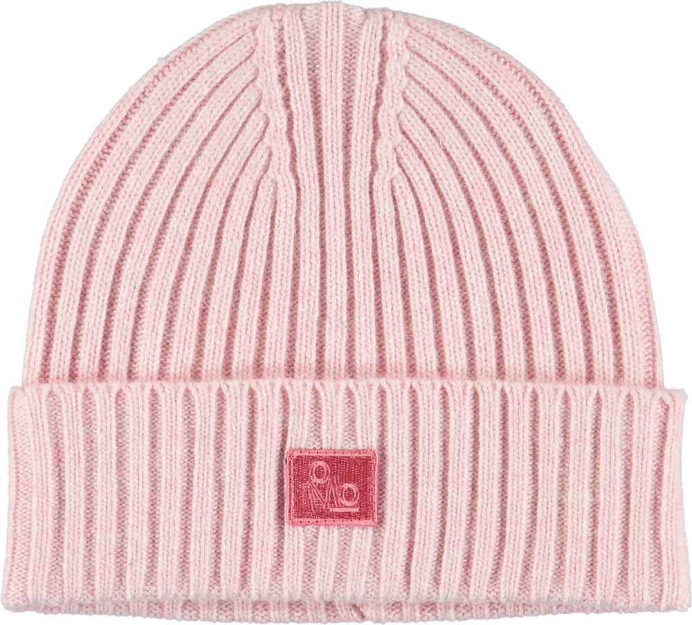Karli - Bubble Pink - Cable knit pink hat.