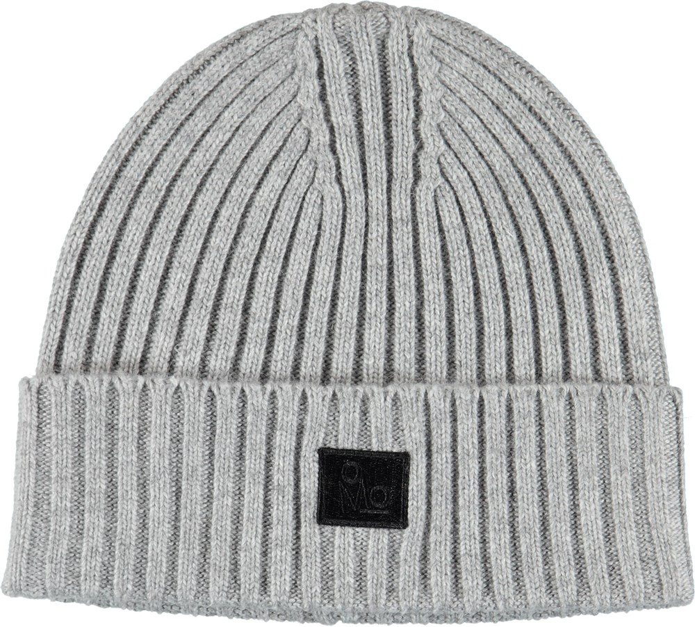 Karli - Grey Melange - Cable knit grey hat.