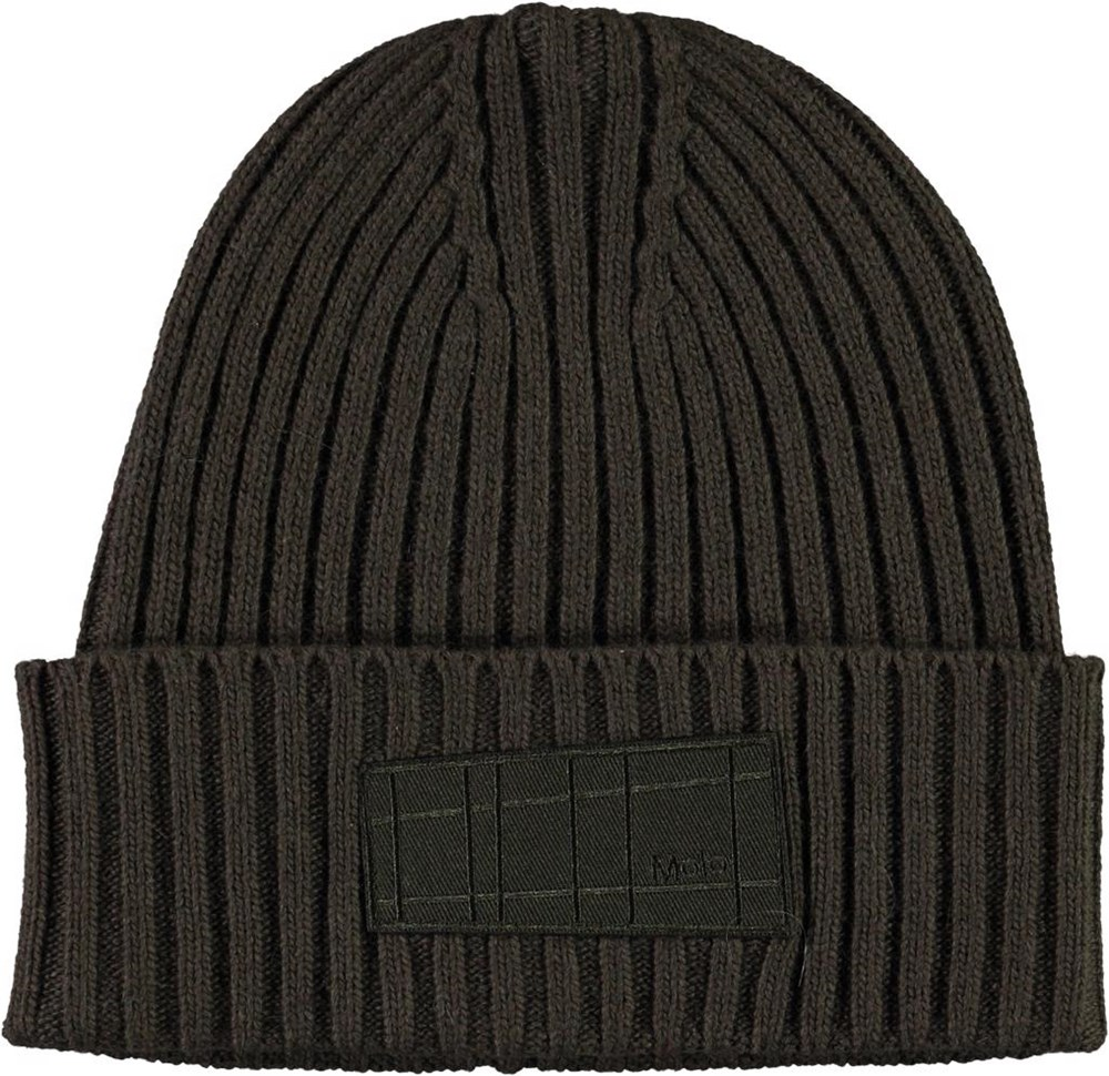 Karli - Vegetation - Cable knit hat in green wool