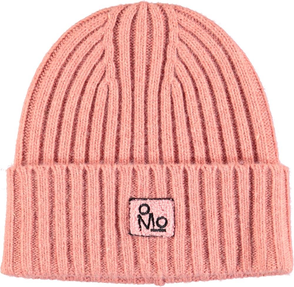 Karli - Ash Rose - Dark rose, cable knit hat in a wool blend