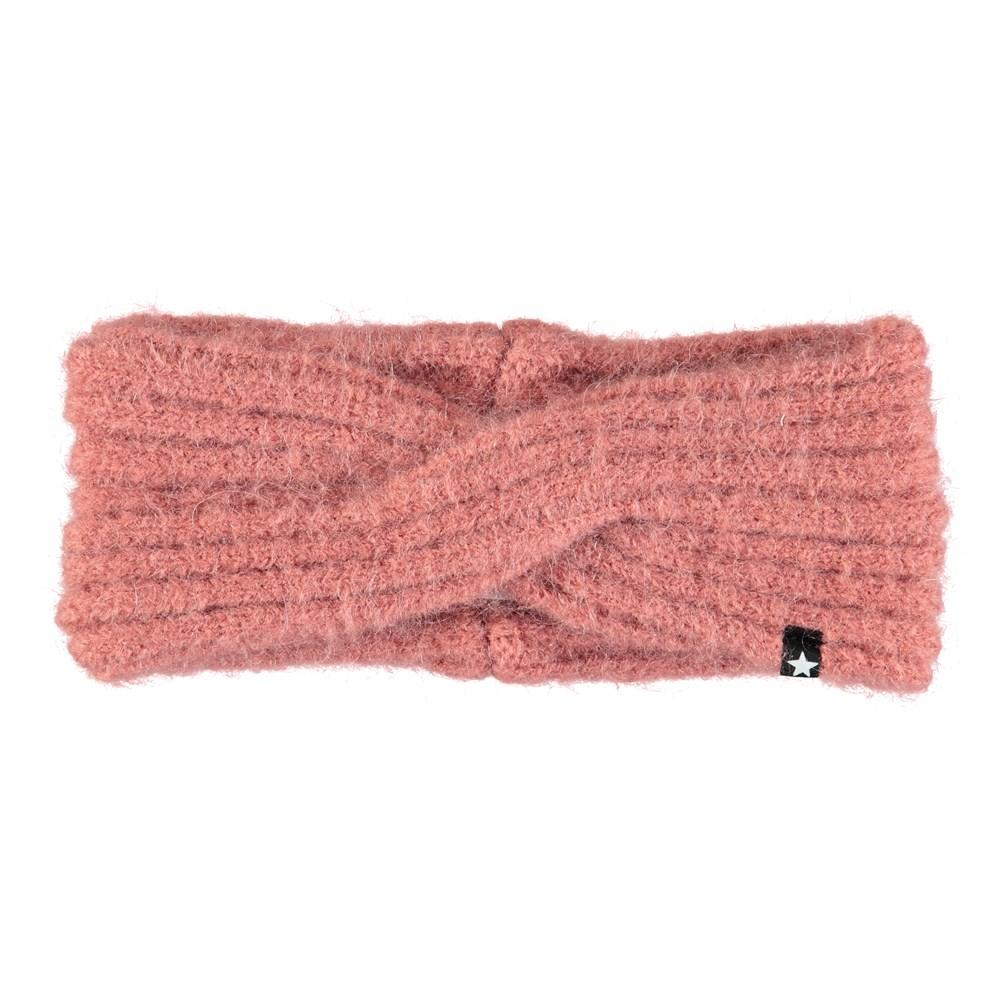 Kassandra - Blush - Dark rose headband in wool blend