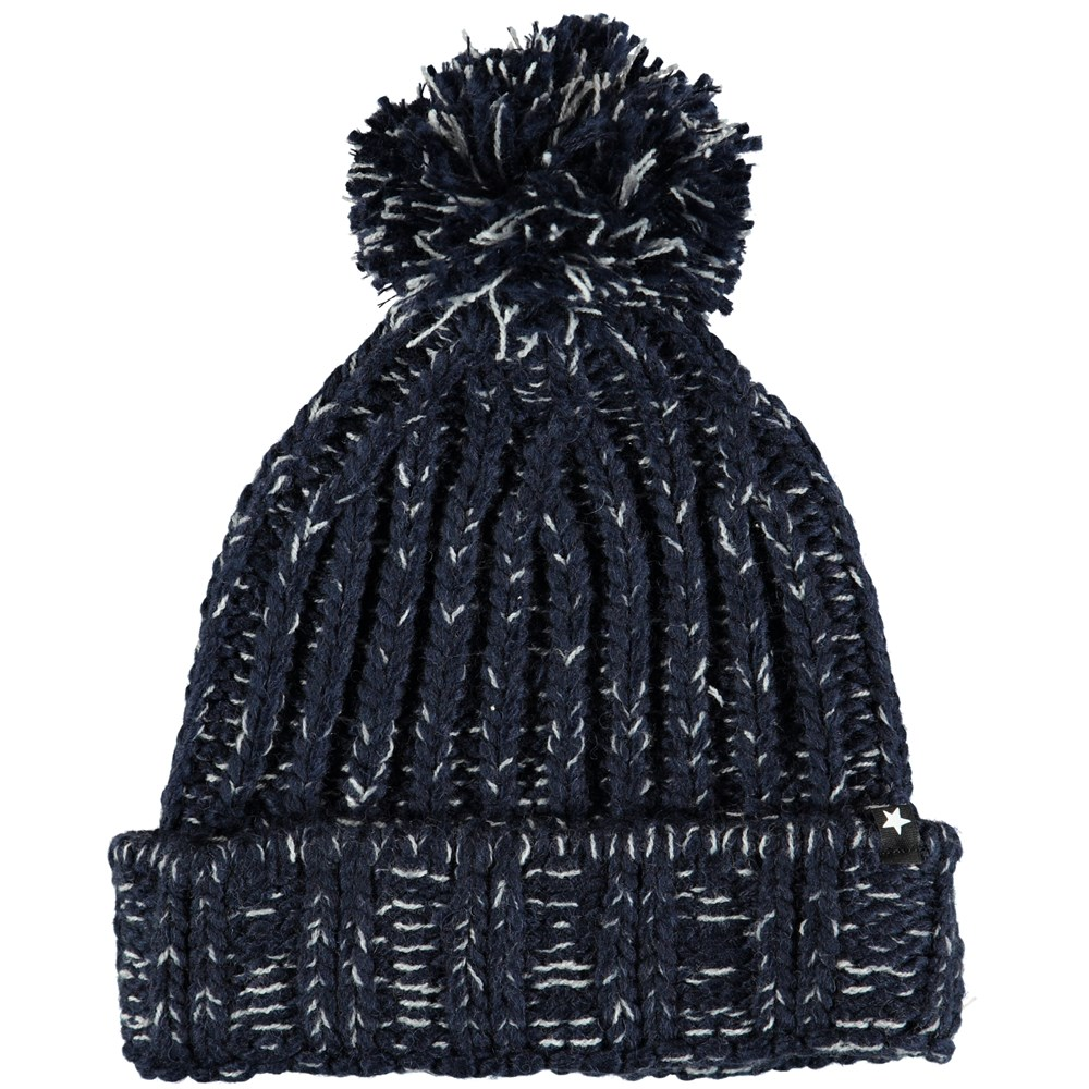 Kate - Evening Blue - Dark blue knit hat in a wool blend