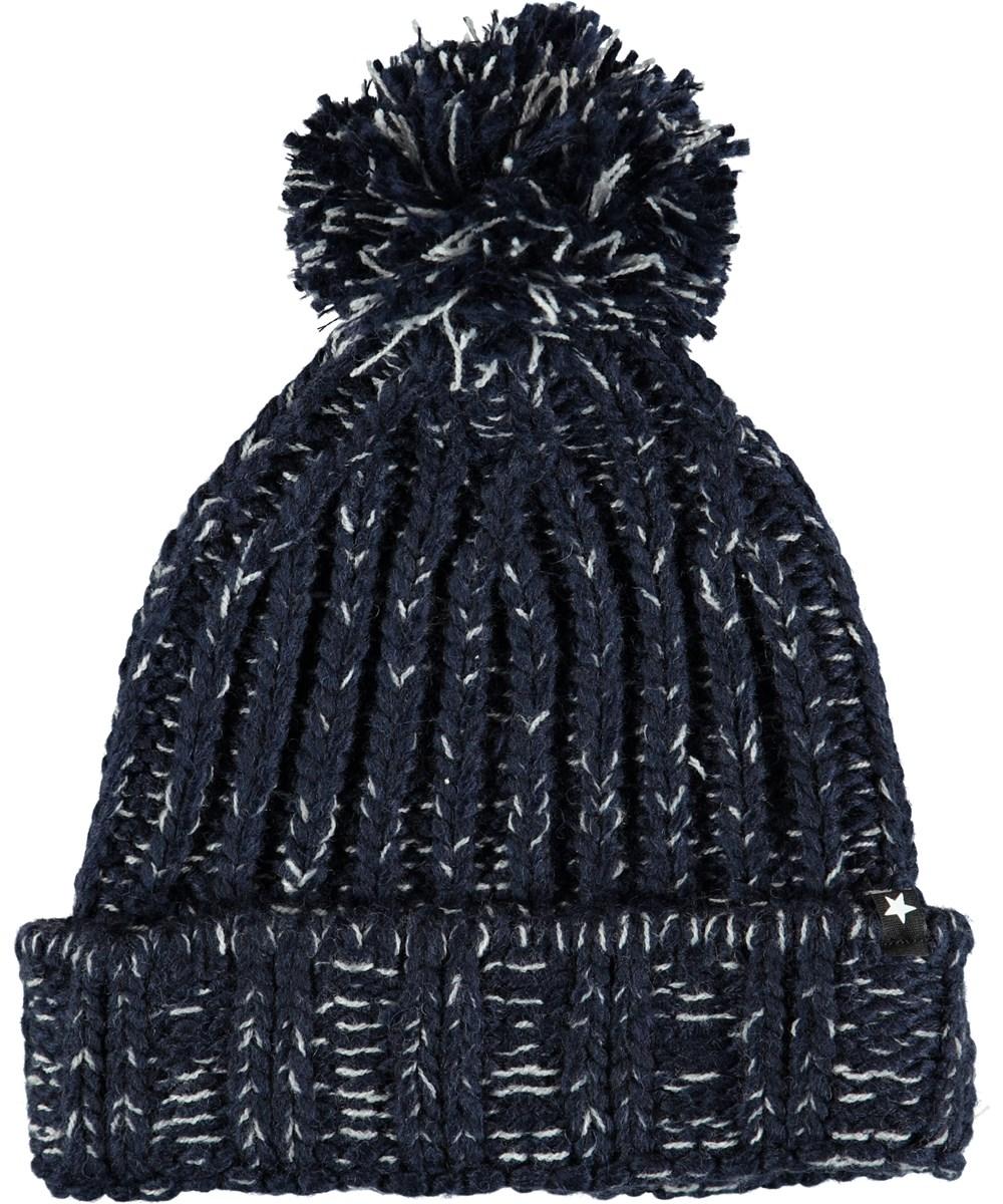Kate - Evening Blue - Dark blue knit hat in a wool blend