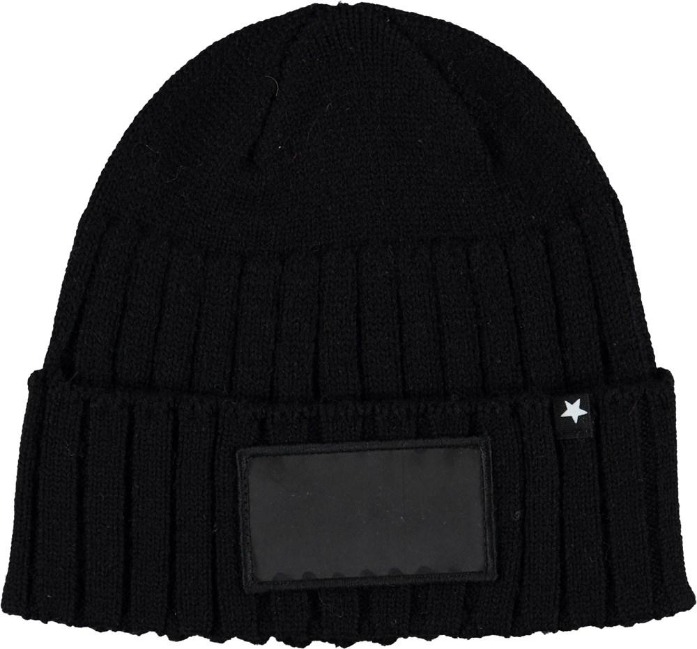 Kavan - Very Black - Black rib hat.