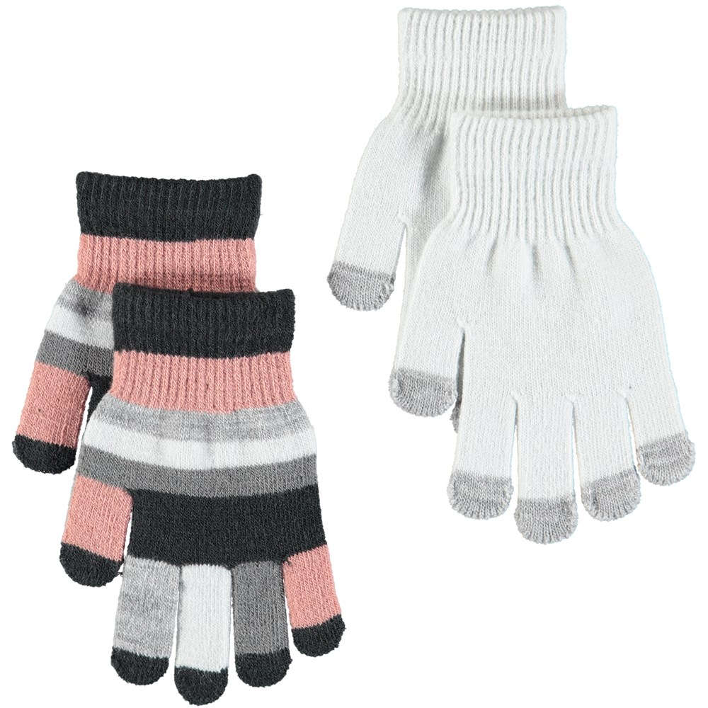 Kei - Dawn Silver - Two pairs of gloves