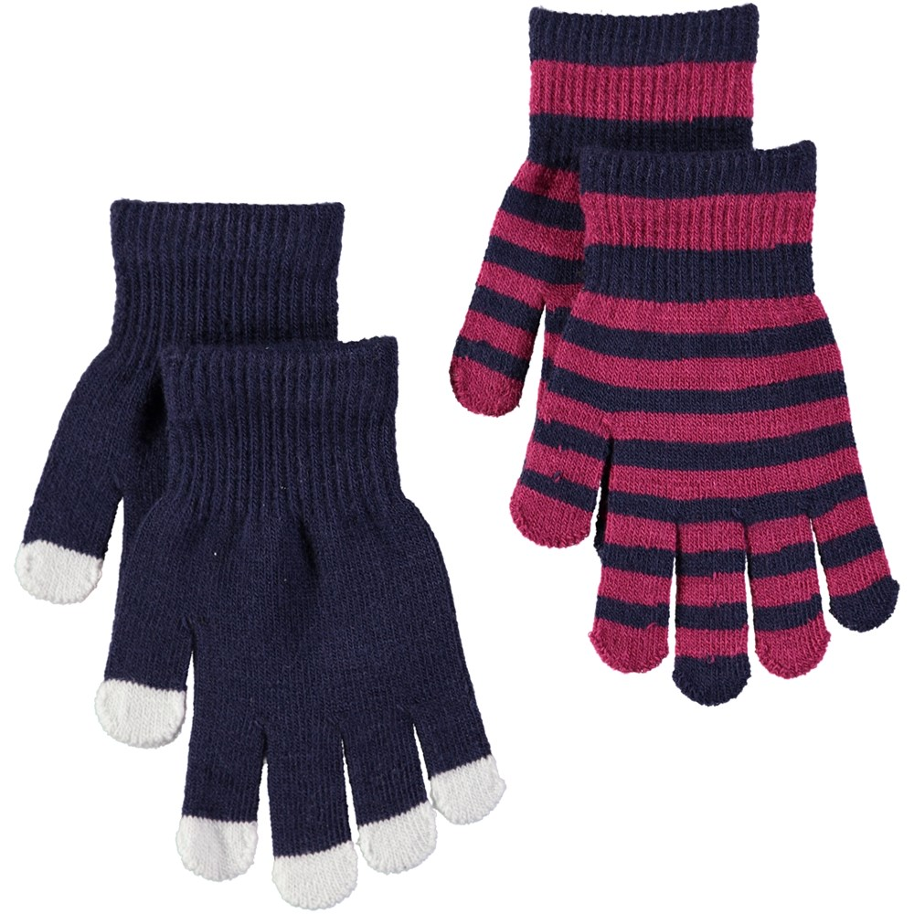 Kei - Evening Blue - Two pairs of gloves