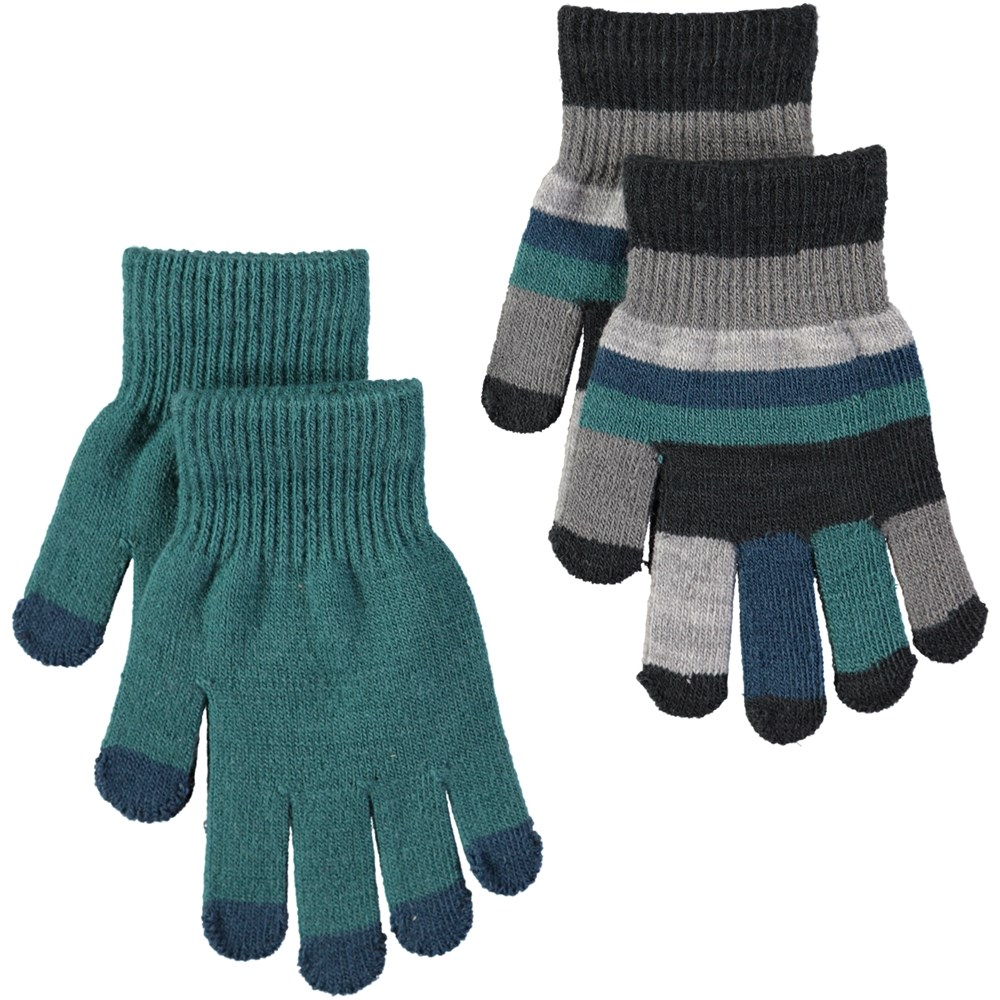 Keio - Jungle Green - Two pairs of gloves