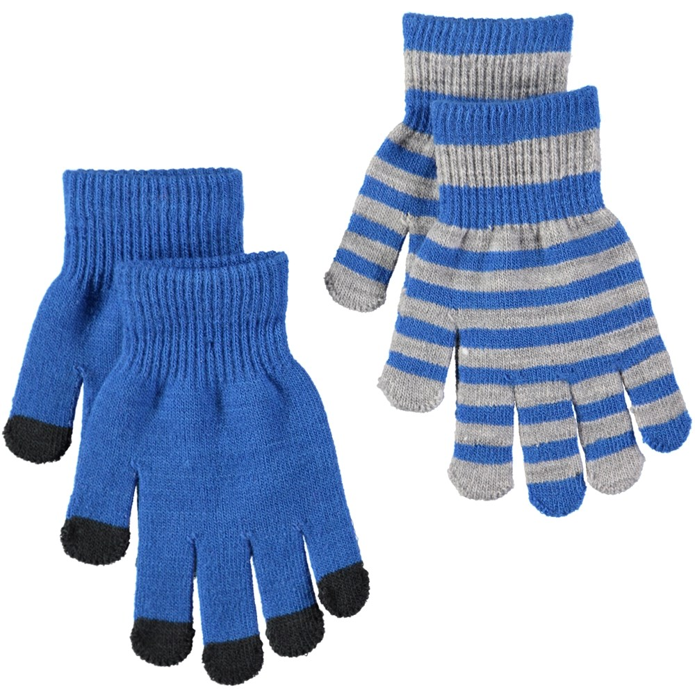 Keio - Real Blue - Two pairs of gloves