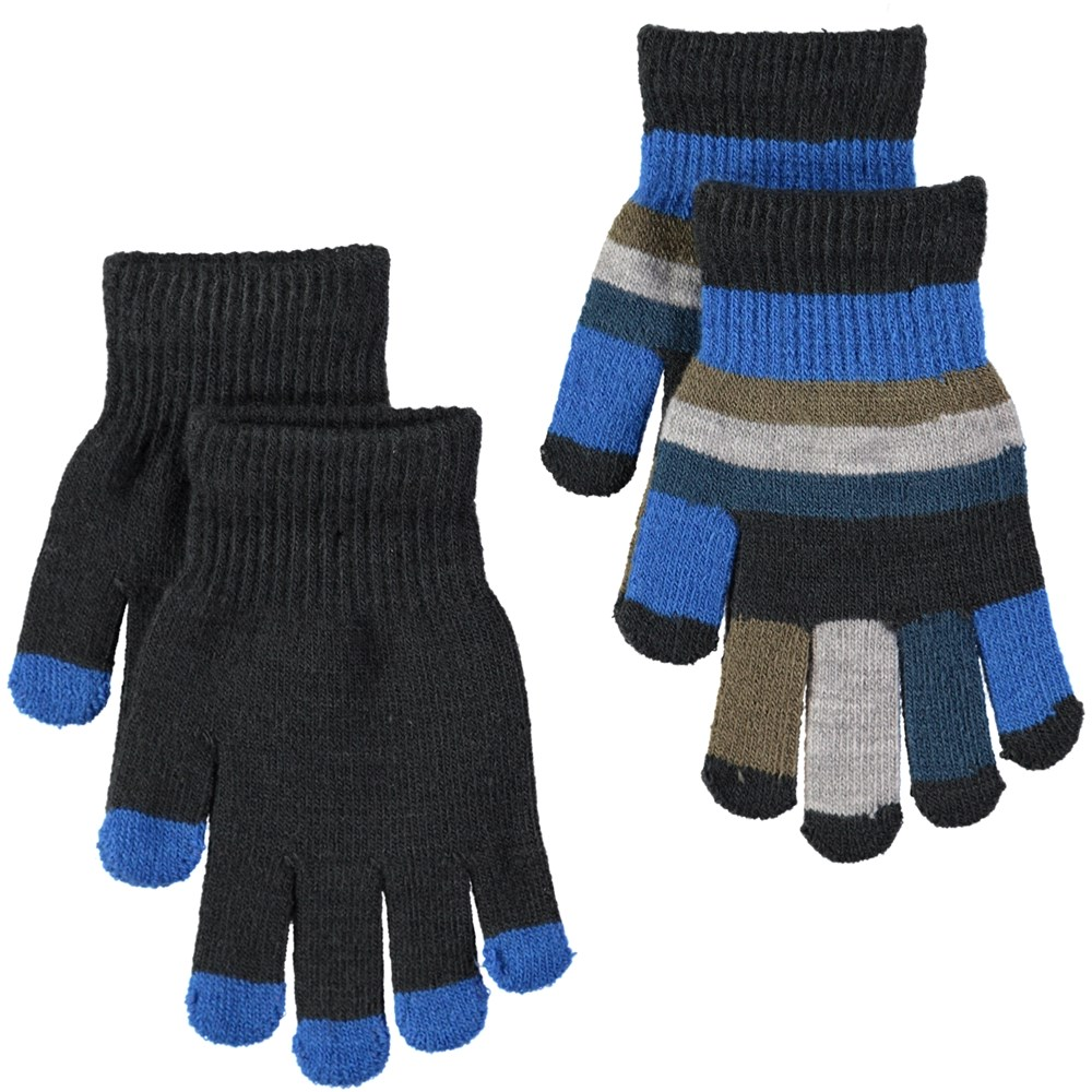 Keio - Very Black - Two pairs of gloves