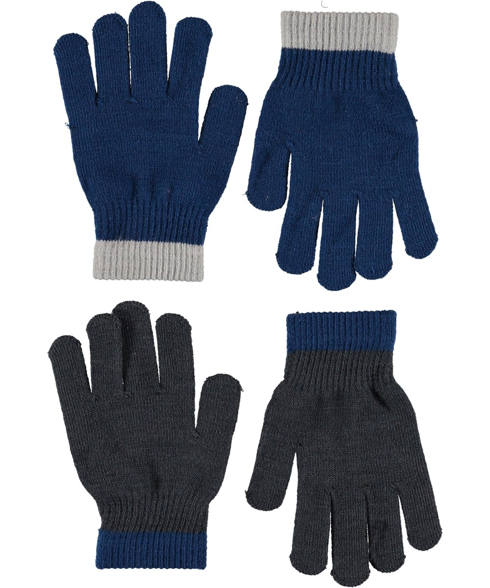 Kello - Ocean Blue - Gloves in blue and grey.